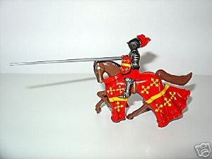 WB40224 - Mounted Warwick Knight (Red and Gold)